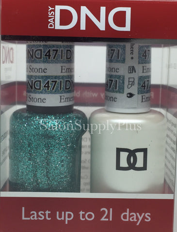 471 - DND Duo Gel - Emerald Stone