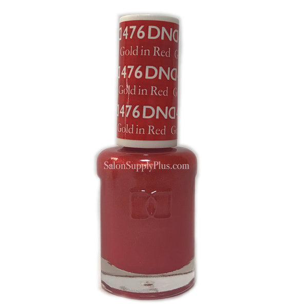 476 - DND Lacquer - Gold in Red