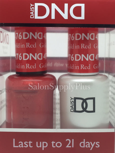 476 - DND Duo Gel - Gold in Red