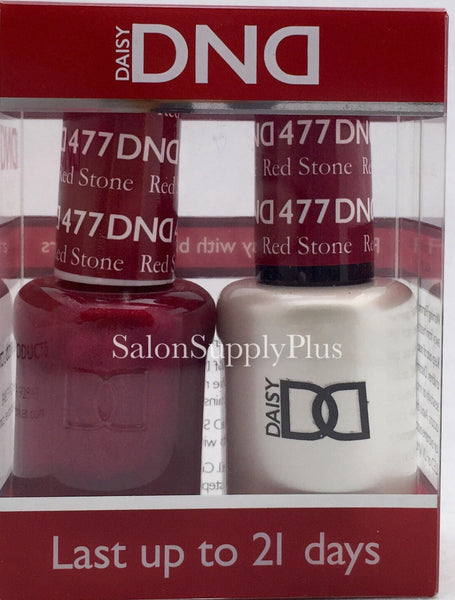 477 - DND Duo Gel - Red Stone
