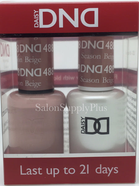 488 - DND Duo Gel - Season Beige