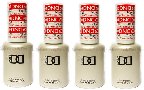 4 Pack DND Gel Top Coat #600 .5 fl oz