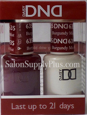635 - DND Duo Gel - Burgundy Mist - (Holiday Collection)