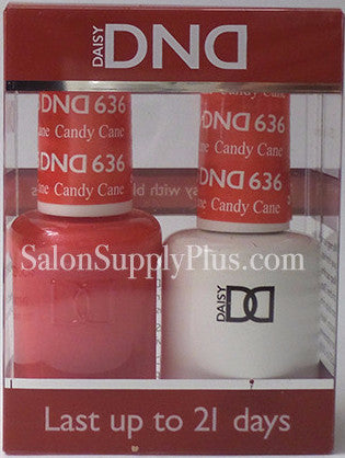 636 - DND Duo Gel - Candy Cane - (Holiday Collection)