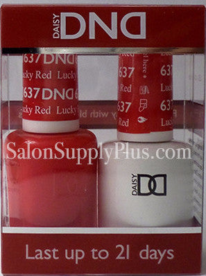 637 - DND Duo Gel - Lucky Red - (Holiday Collection)