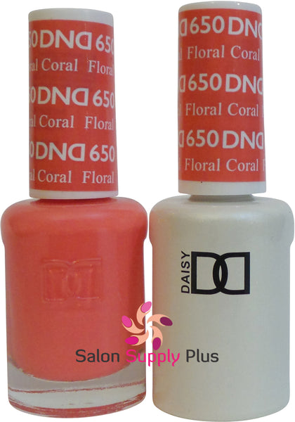 650- DND Duo Gel - Floral Coral