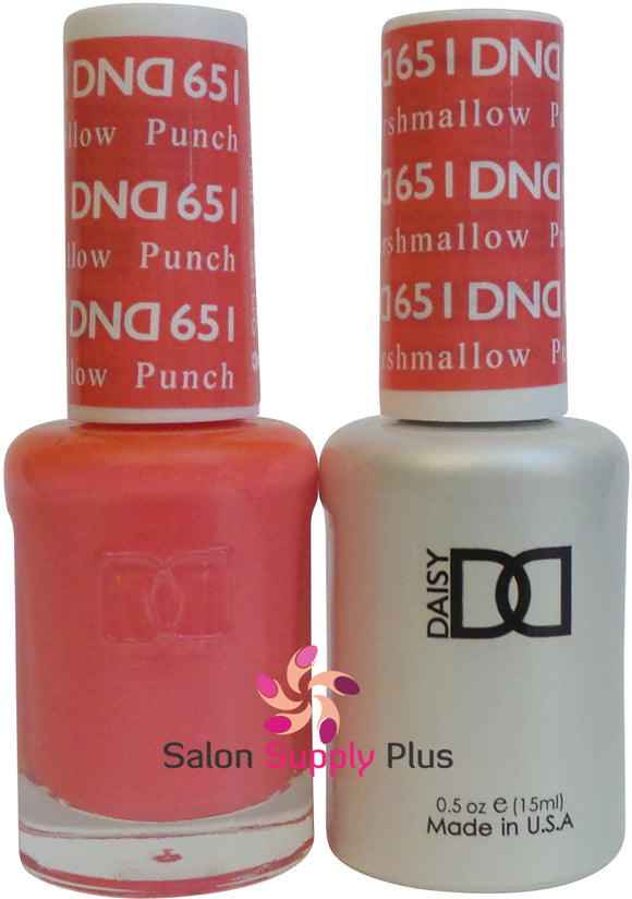 651- DND Duo Gel - Punch Marshmallow