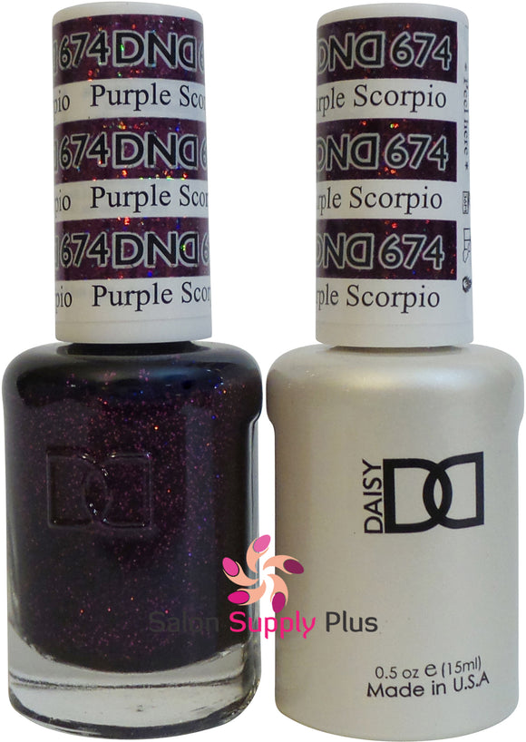 674 -  DND Duo Gel - Purple Scorpio