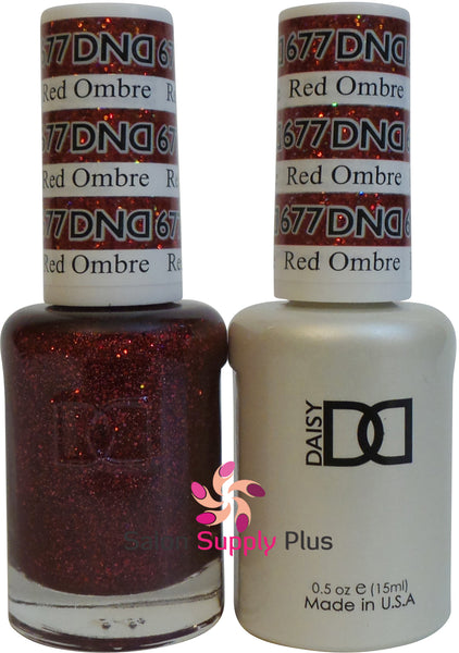 677 -  DND Duo Gel - Red Ombre