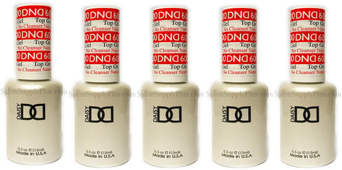 6 Pack DND Gel Top Coat #600 .5 fl oz