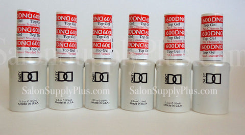 6 Pack DND Non-Cleanse Gel Top Coat .5 fl oz