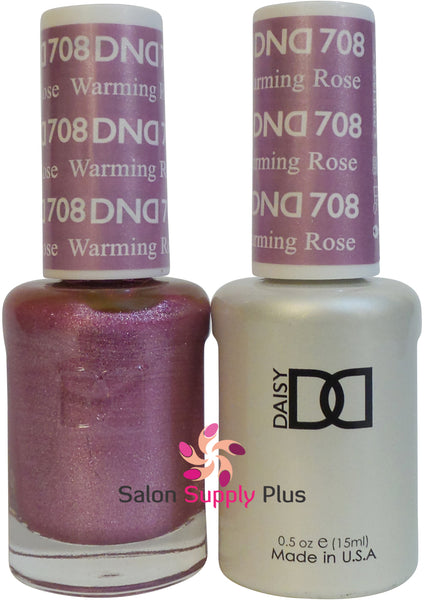 708 -  DND Duo Gel - Warming Rose