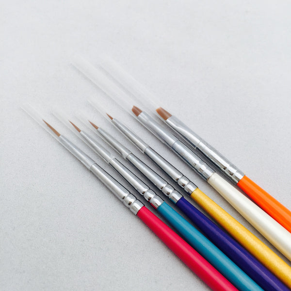 Nail Art Brushes - 6 Pack