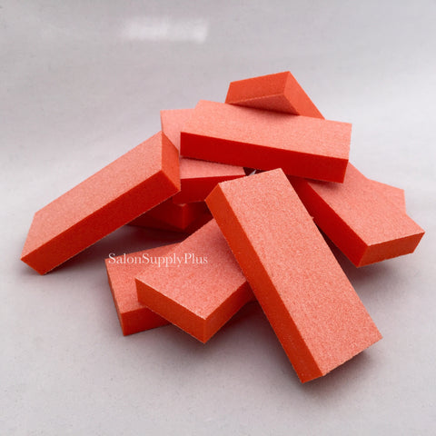 Orange Nail Buffers - Pack of 10