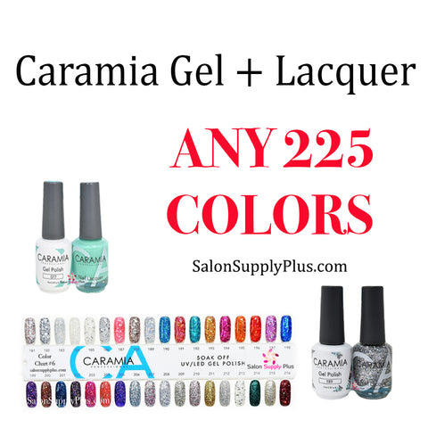 CARAMIA GEL + LACQUER - ANY 225 COLORS