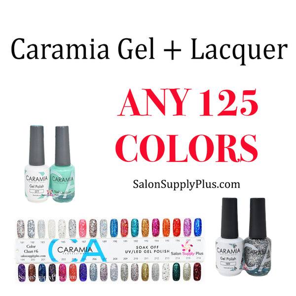 CARAMIA GEL + LACQUER - ANY 125 COLORS
