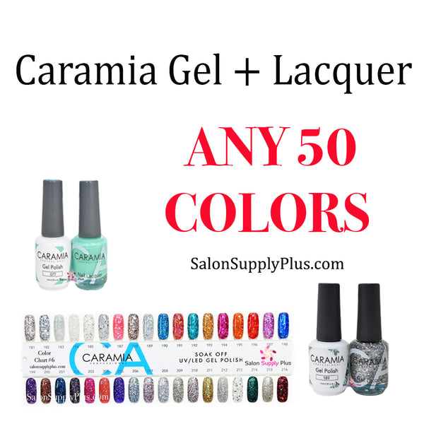 CARAMIA GEL + LACQUER - ANY 50 COLORS