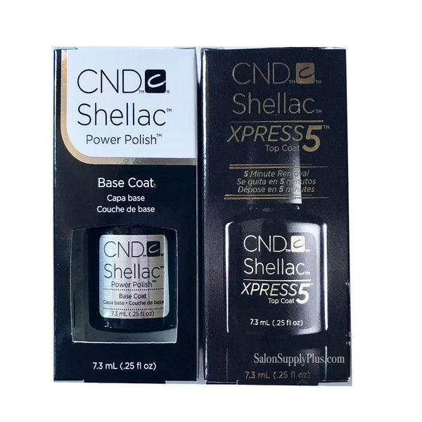 CND Shellac - Base XPRESS 5 Top Coat set - .25 fl oz