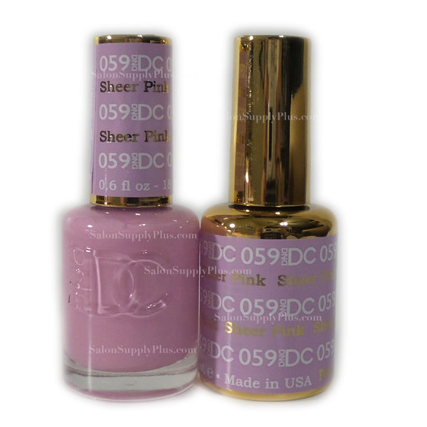 059 - DND DC GEL - SHEER PINK