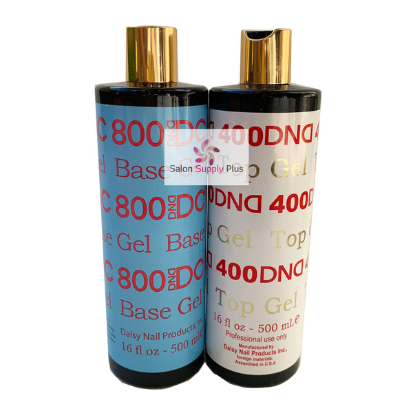 DND DC - #400 #800  BASE AND GEL TOP COAT REFILL -  16 fl oz (LARGE) - C0077,C0010