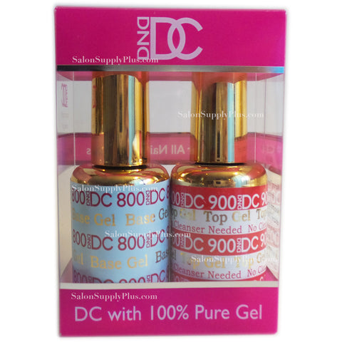 DND DC - #800 #900 - Base & Non Cleanse Gel Top Coat .6 fl oz