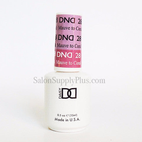 28 - DND Mood Gel - Mauve to Coral Pink