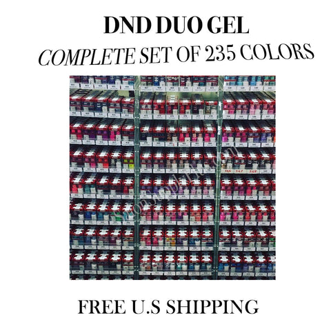 DND Duo Gel - Complete 235 Colors Collection