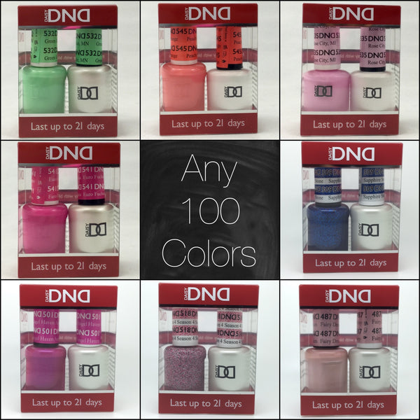 001 - DND Duo Gel - Any 100 Colors of your choice
