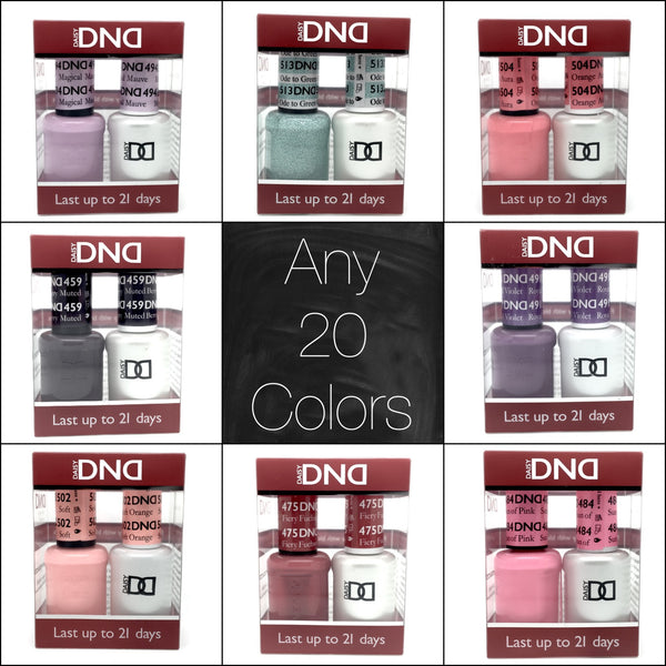001 - DND Duo Gel - Any 20 Colors of your choice