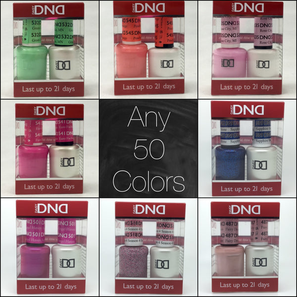 001 - DND Duo Gel - Any 50 Colors of your choice