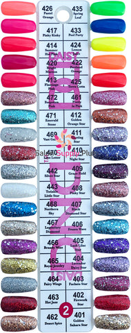 0002 - DND DUO GEL DUO SET  - COLOR CHART #2 SET(36 COLORS)
