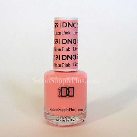 591 - DND Lacquer - Linen Pink - (Diva Collection)