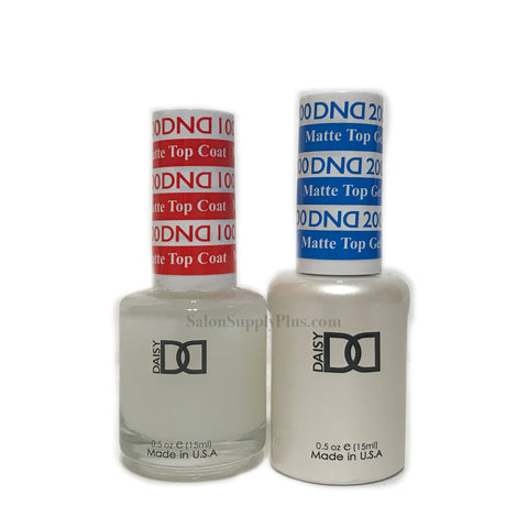 DND Matte Top Coat #100 #200 (Gel & Regular) .5 fl oz