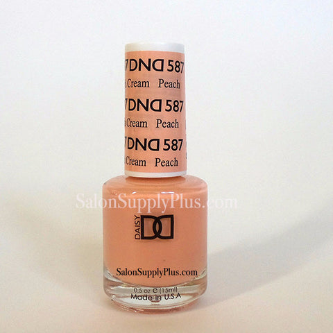 587 - DND Lacquer - Peach Cream - (Diva Collection)