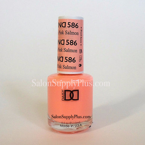 586 - DND Lacquer - Pink Salmon- (Diva Collection)