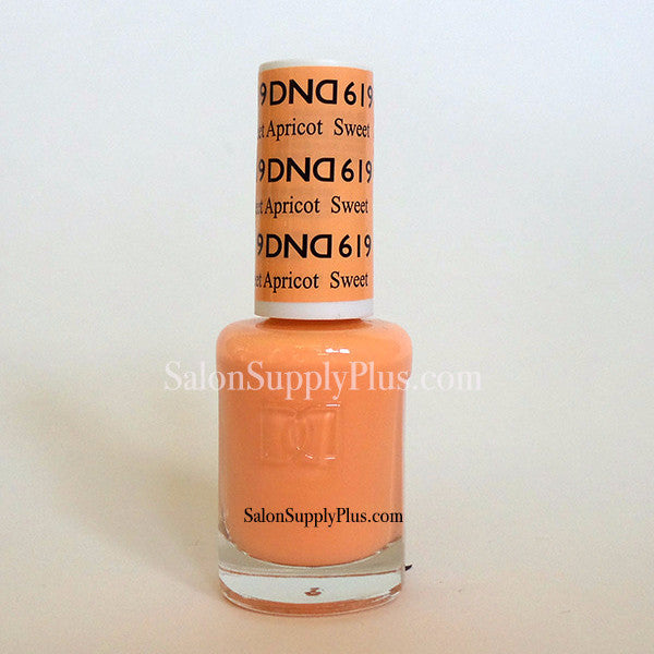 619 - DND Lacquer - Sweet Apricot - (Diva Collection)
