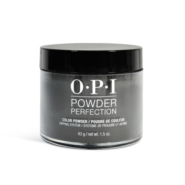 OPI Powder Perfection - BLACK ONYX  (DP T02) - 1.5 OZ