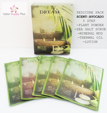 D SPA  - PEDICURE PACK - 5 STEP - AVOCADO