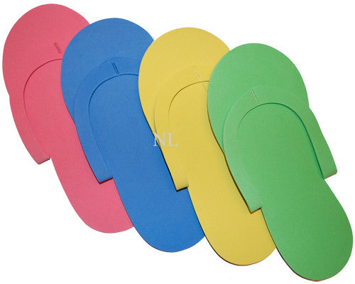 PEDICURE SLIPPERS - VARIETY COLORS - 360 PAIRS