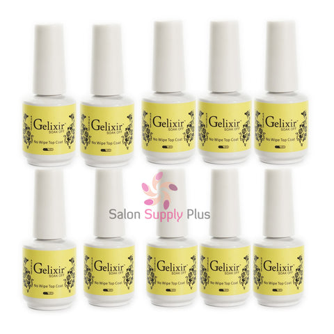 Gelixir - 10 Pack - No Wipe Gel Top Coat