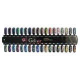 Gelixir X Collection - Glitter Gel Color – Complete 36 Color Set + Color Chart