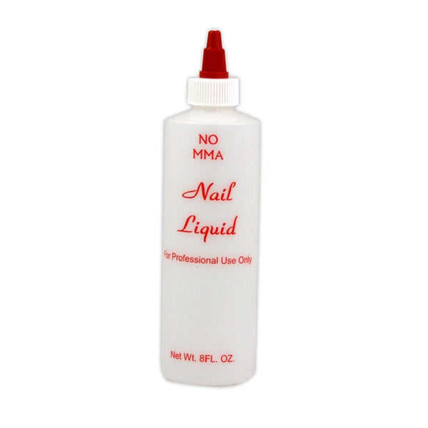 Empty Plastic Printed Nail Liquid Bottle - 8 fl oz (Pack of 6)