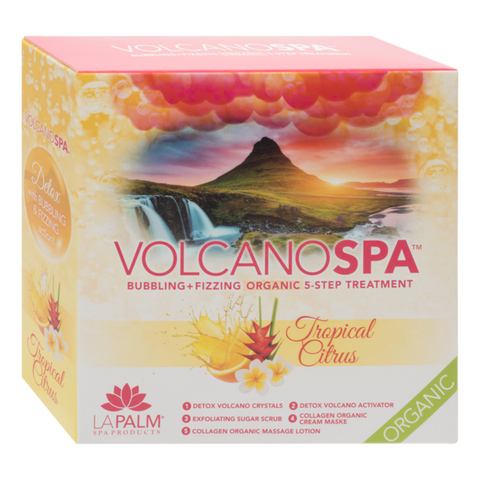 LA PALM - VOLCANO SPA - 5 STEP PEDICURE SPA IN A BOX - TROPICAL CITRUS