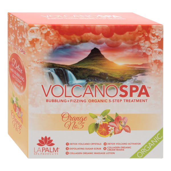 LA PALM - VOLCANO SPA - 5 STEP PEDICURE SPA IN A BOX - ORANGE NO. 5