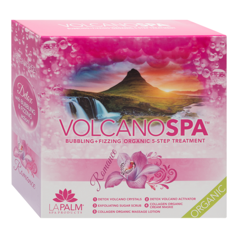 LA PALM - VOLCANO SPA - 5 STEP PEDICURE SPA IN A BOX - ROMANCE