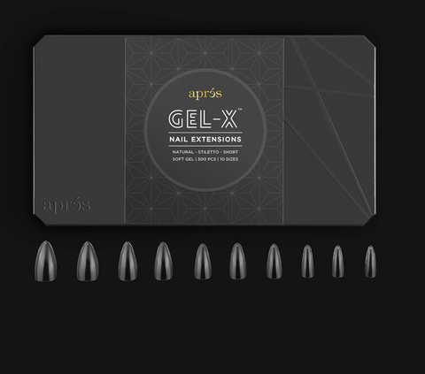 Apres Gel X - Natural Stiletto Short  - Box of 500 Nail Tips - S0167