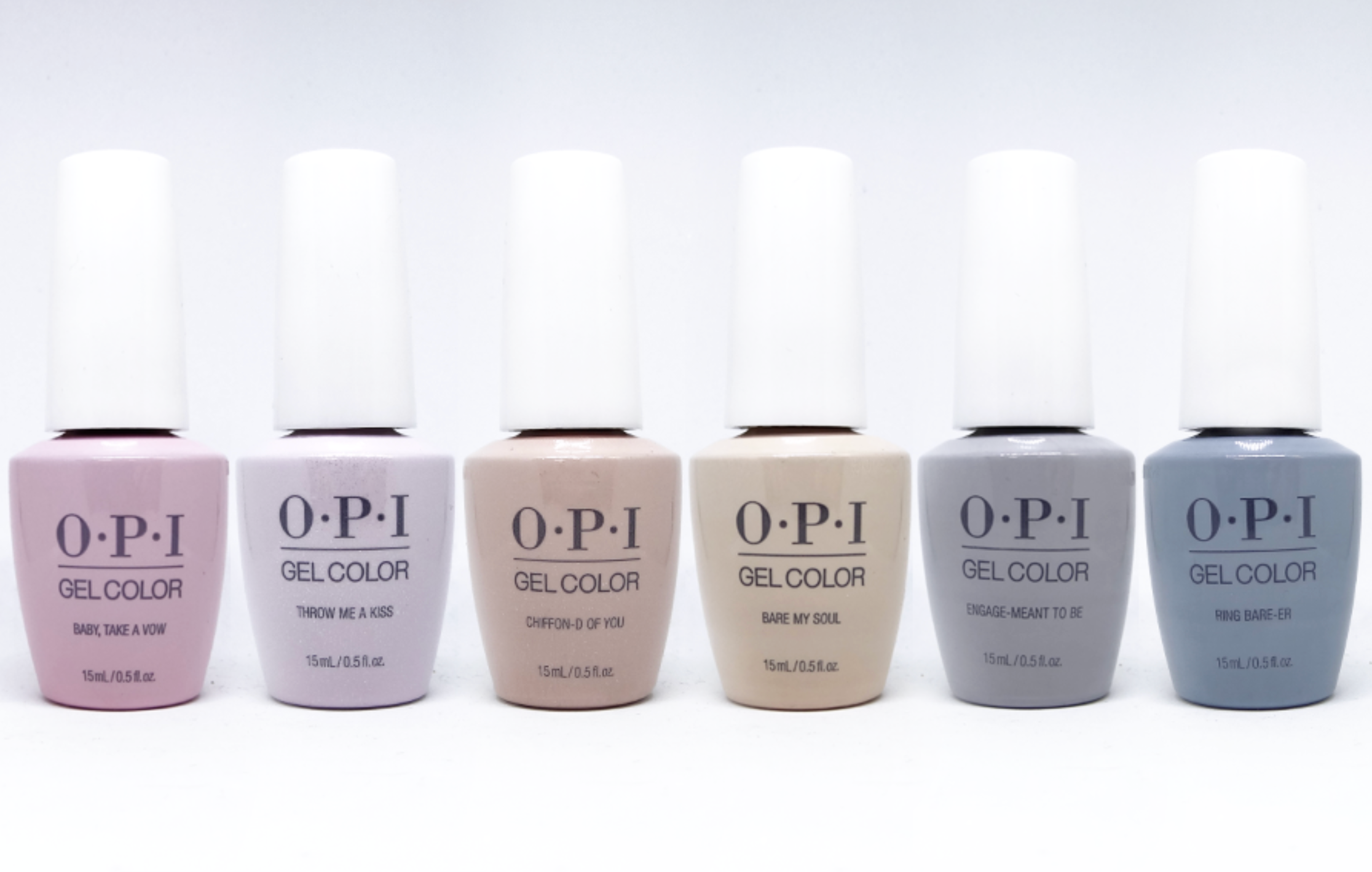 OPI Gel color - Spring 2019 - Always Bare for You Collection - 6 Colors