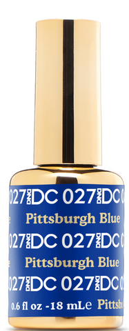 DND DC GEL - 027 PITTSBURG BLUE - GEL BOTTLE ONLY