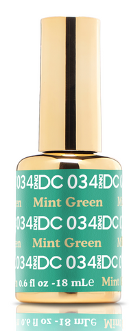 DND DC GEL - 034 MINT GREEN - GEL BOTTLE ONLY