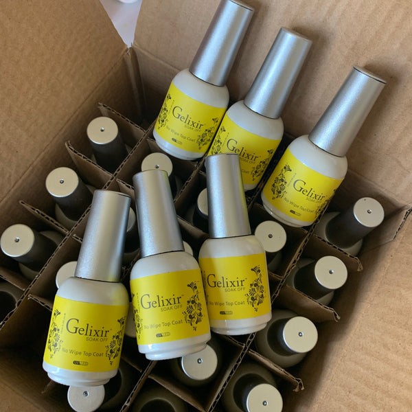Gelixir - 6 Pack -No Wipe Gel Top Coat